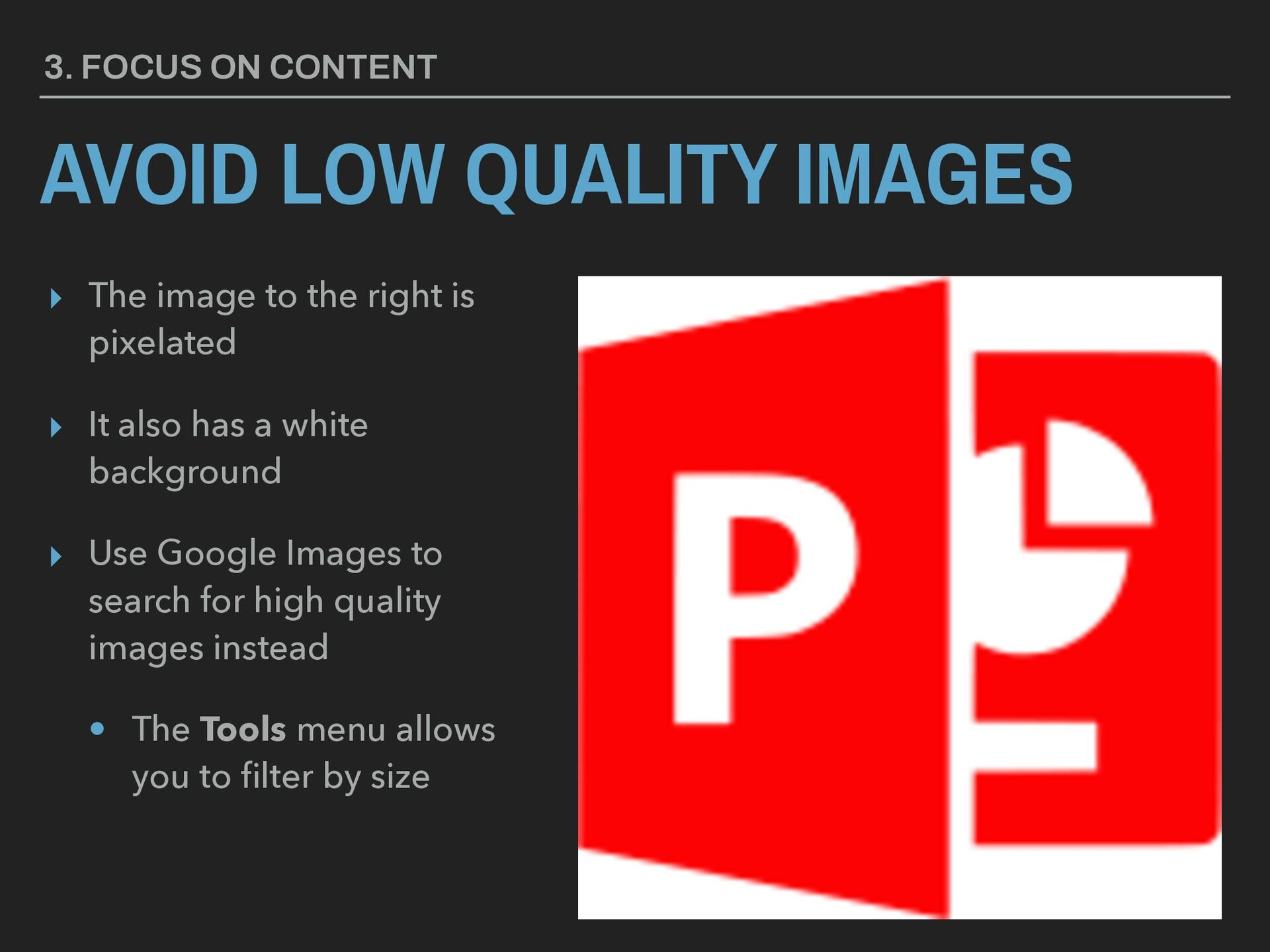 ▸ The image to the right is pixelated ▸ It also...
