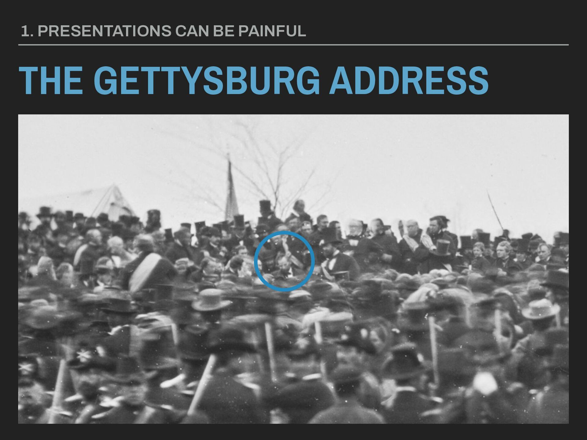 THE GETTYSBURG ADDRESS 1. PRESENTATIONS CAN BE ...