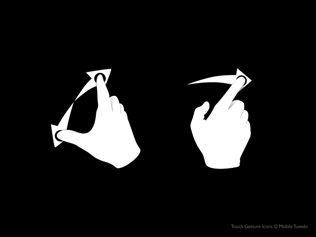 Touch Gesture Icons © Mobile Tuxedo