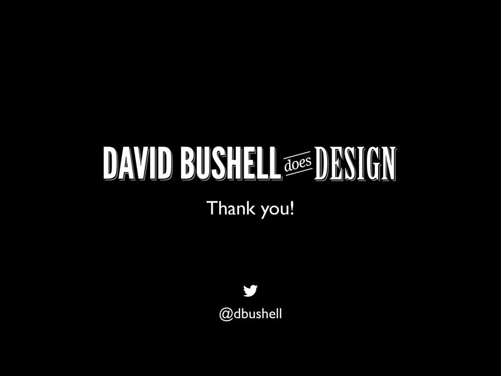 Thank you! @dbushell