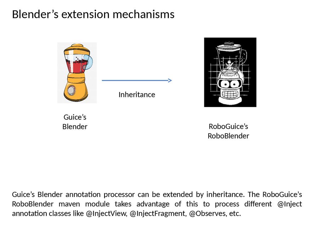 Blender's extension mechanisms Guice's Blender ...