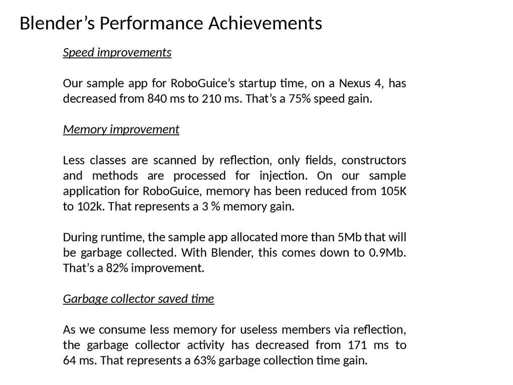 Blender's Performance Achievements Speed improv...