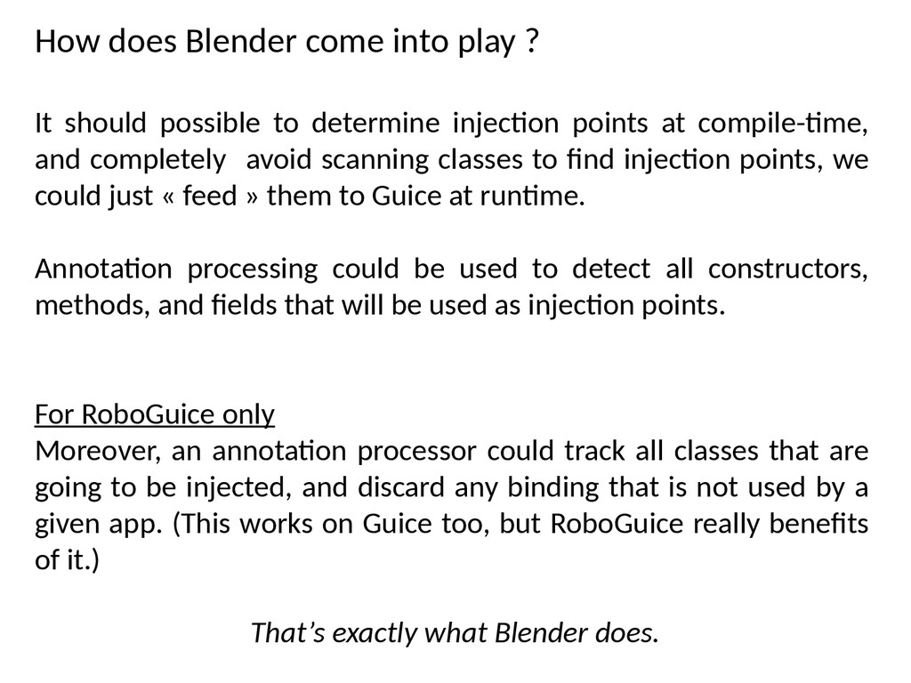 How does Blender come into play ? It should pos...