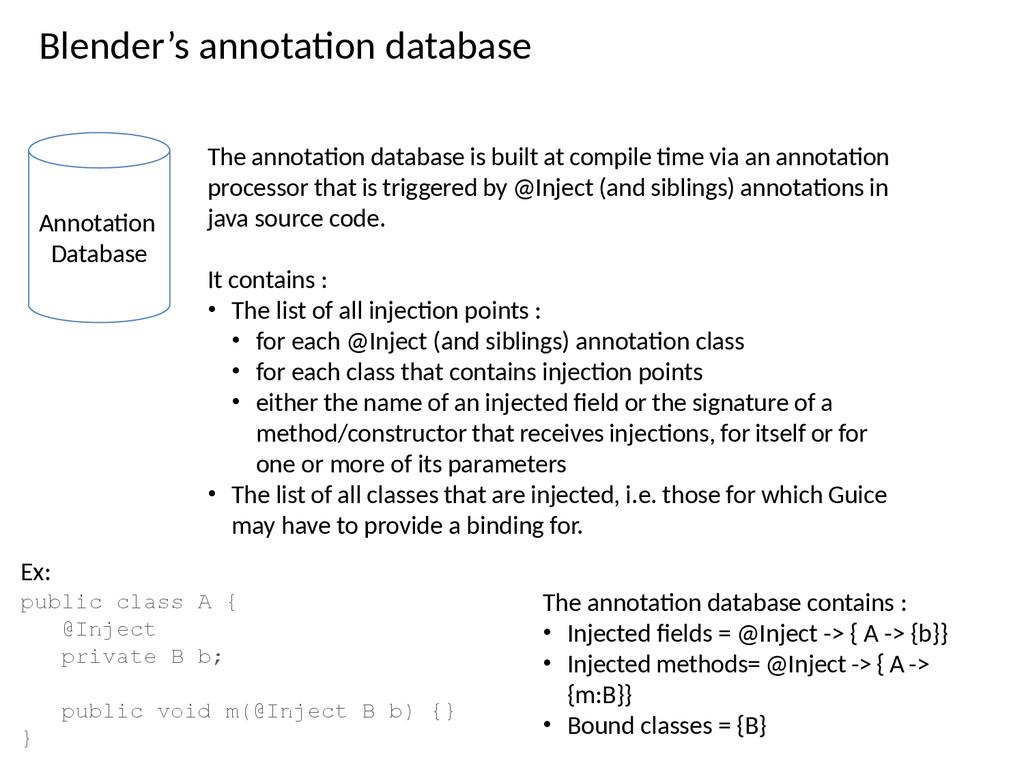 Blender's annotaton database Annotaton Database...