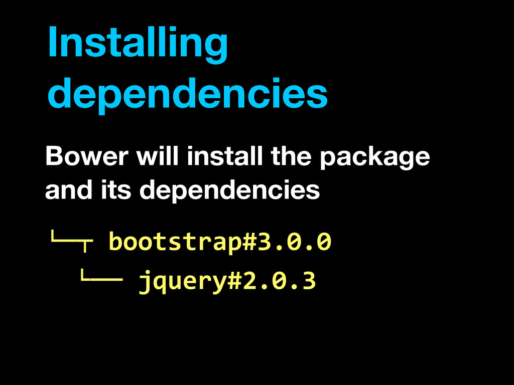Installing dependencies Bower will install the ...