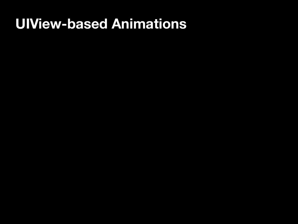 UIView-based Animations
