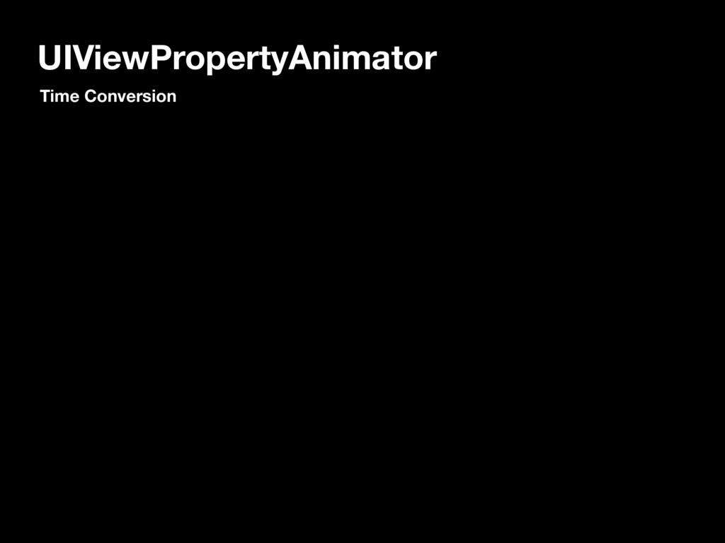 UIViewPropertyAnimator Time Conversion