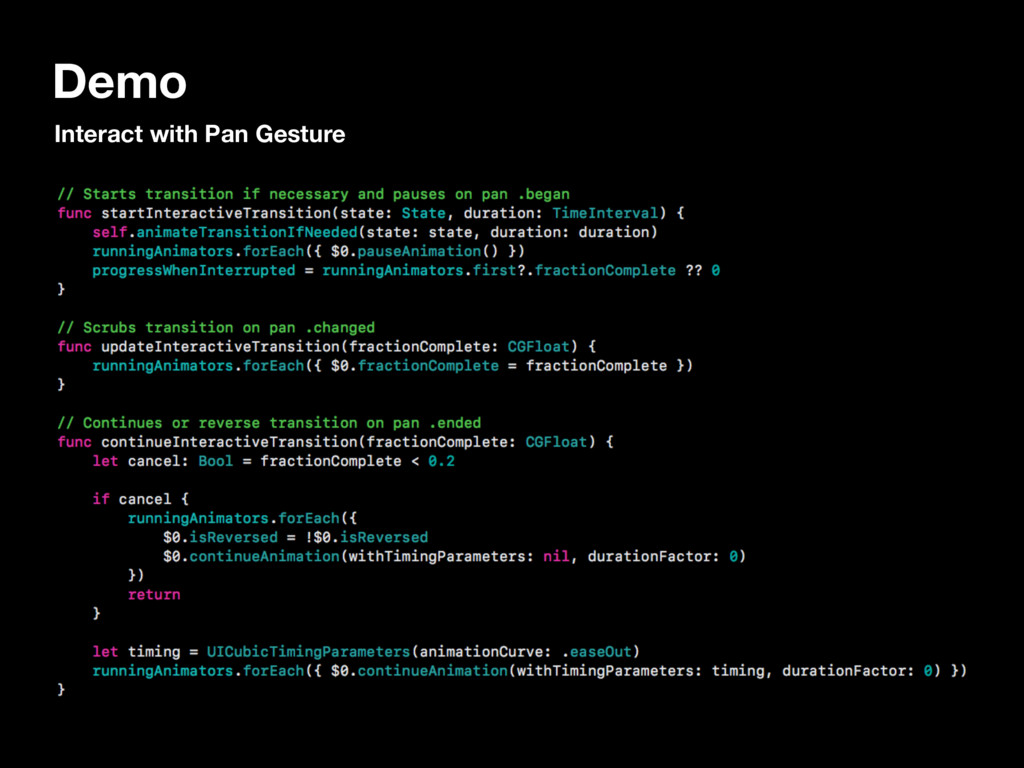 Demo Interact with Pan Gesture