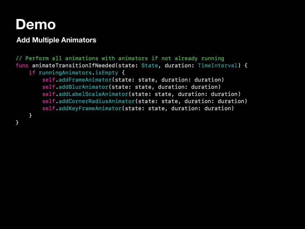 Demo Add Multiple Animators