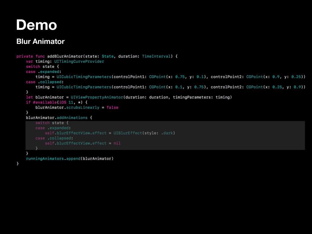 Demo Blur Animator