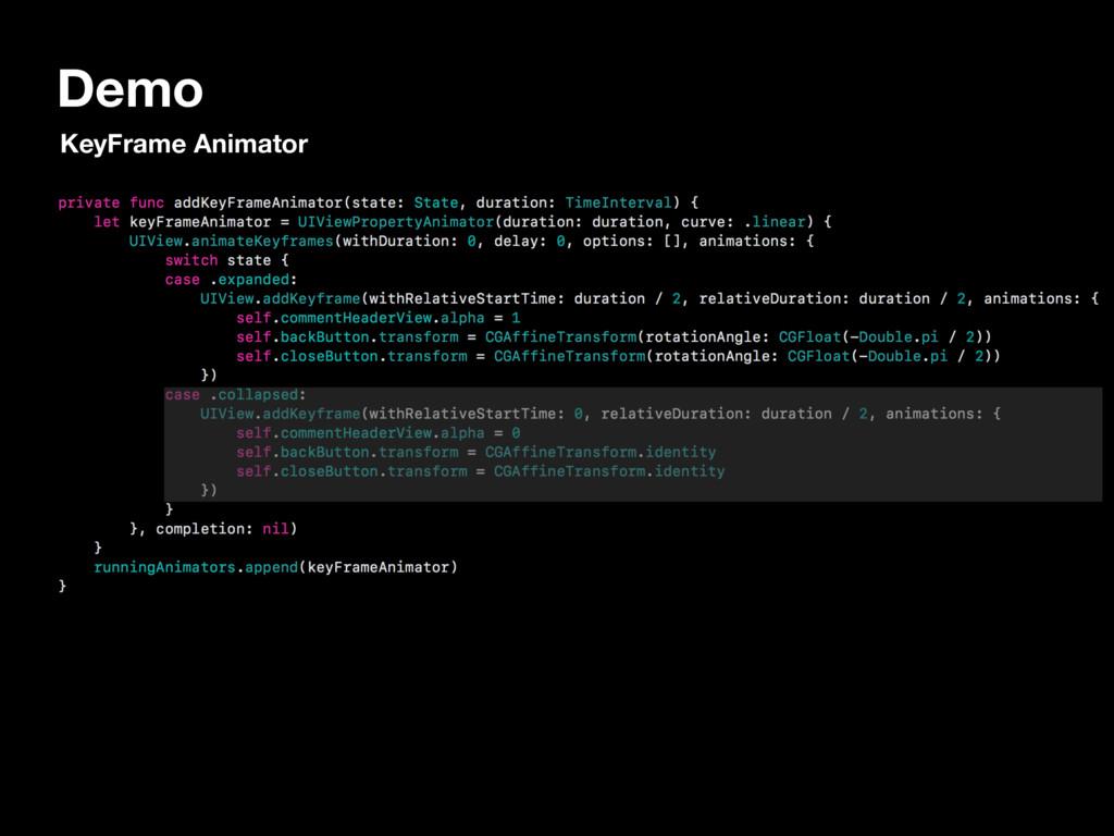 Demo KeyFrame Animator