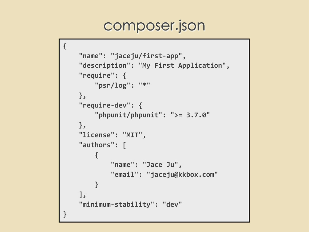 """{     """"name"""": """"jaceju/first-‐ap..."""