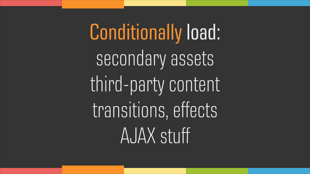Conditionally load: secondary assets third-part...