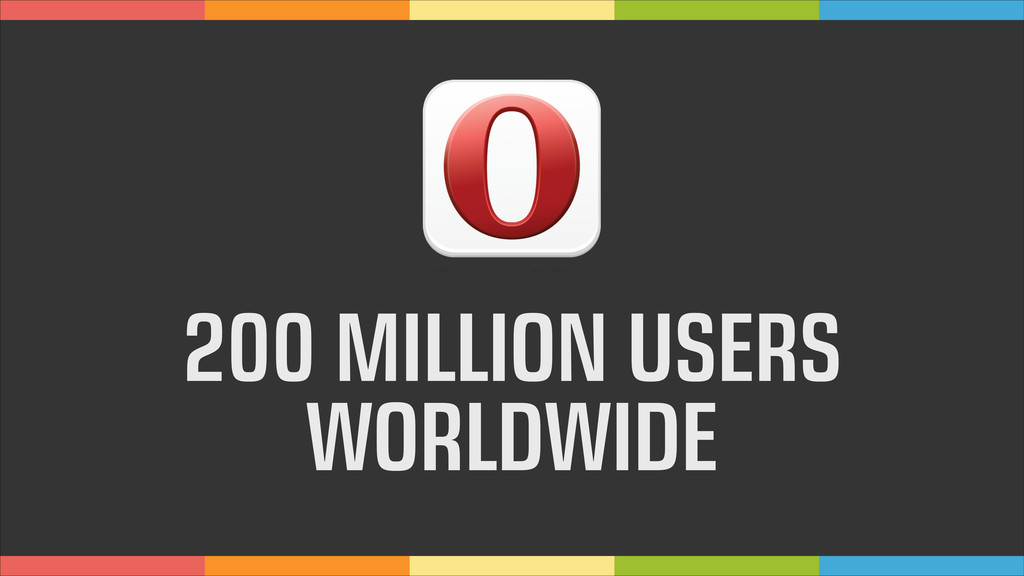 200 MILLION USERS WORLDWIDE