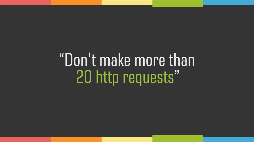 """Don't make more than 