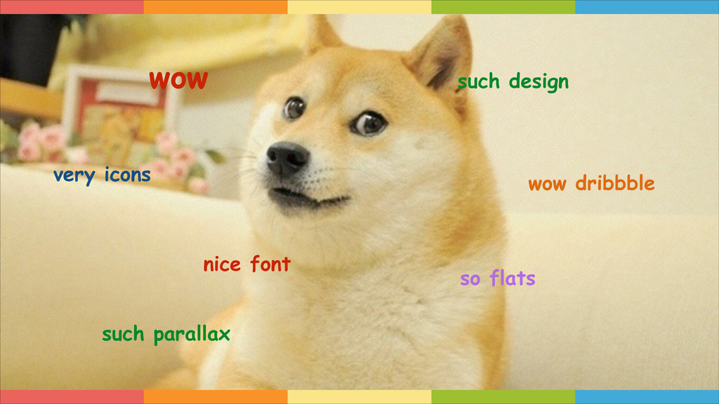 wow such design very icons so flats nice font w...