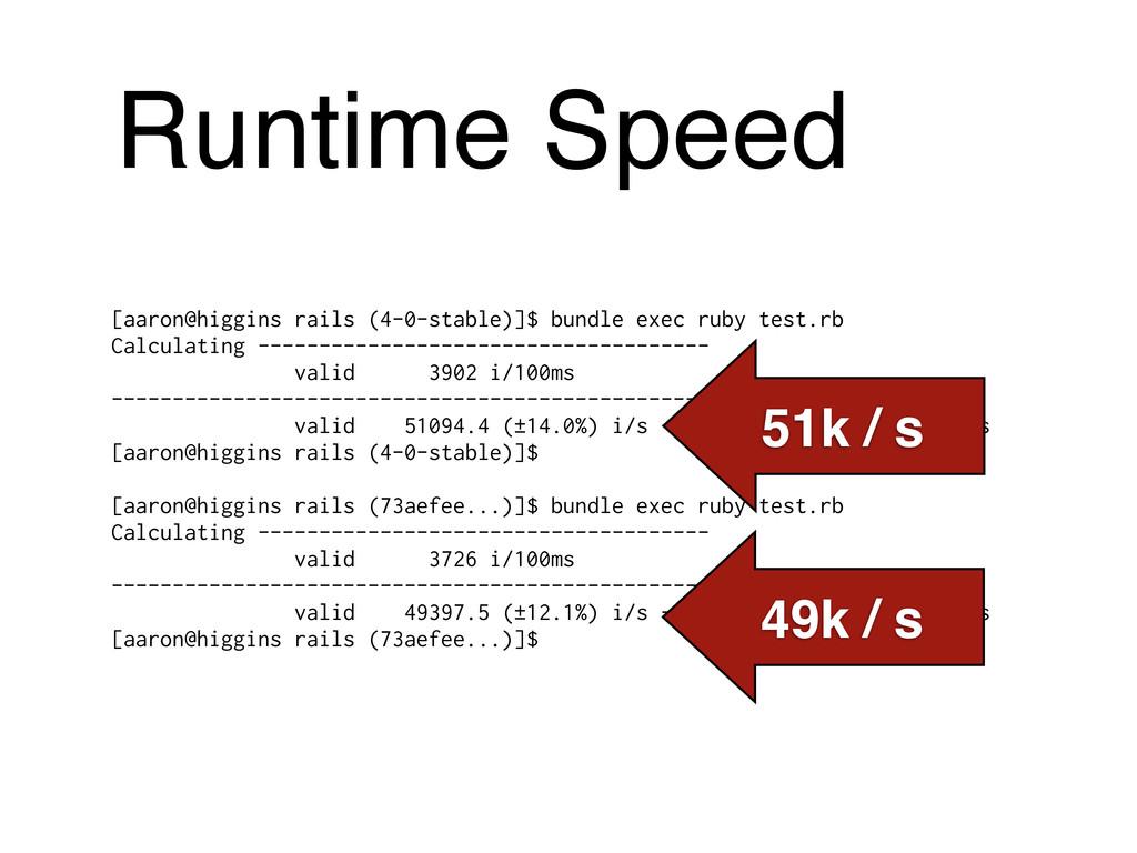 Runtime Speed [aaron@higgins rails (4-0-stable)...