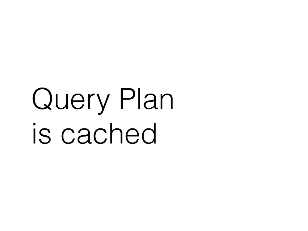 Query Plan is cached