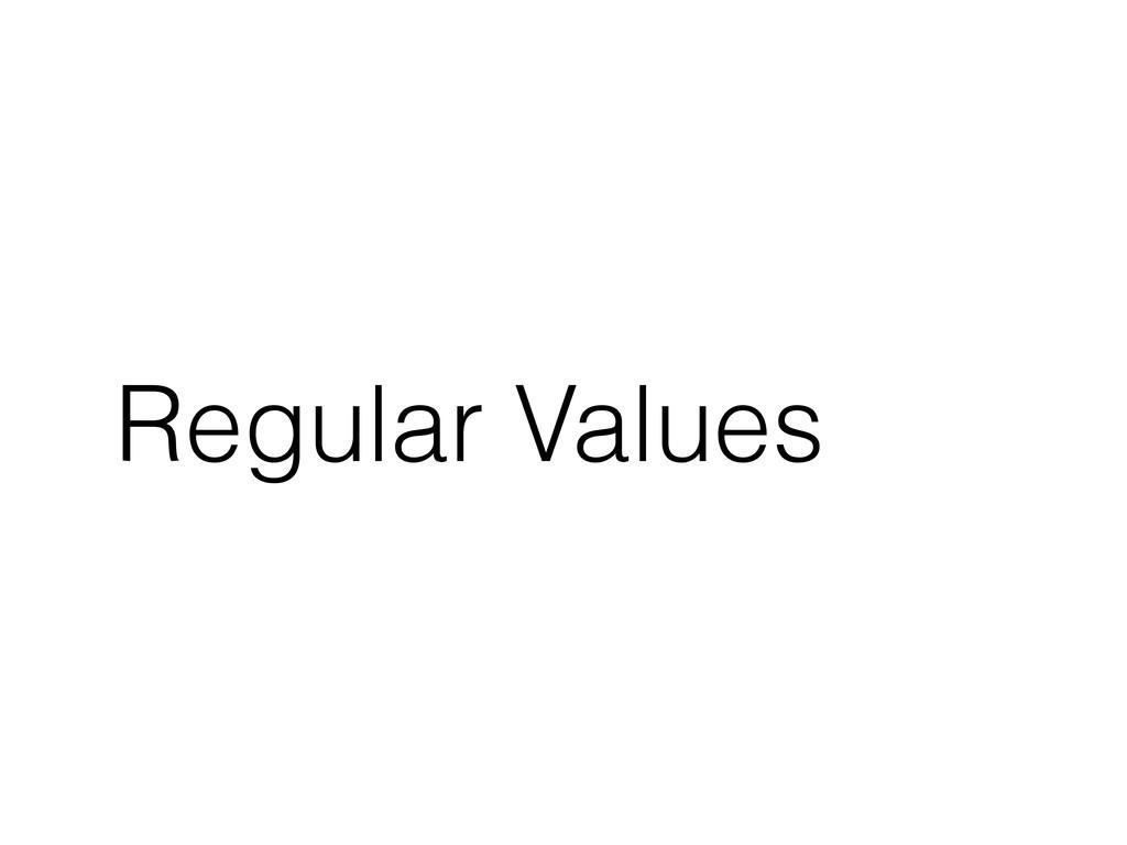 Regular Values