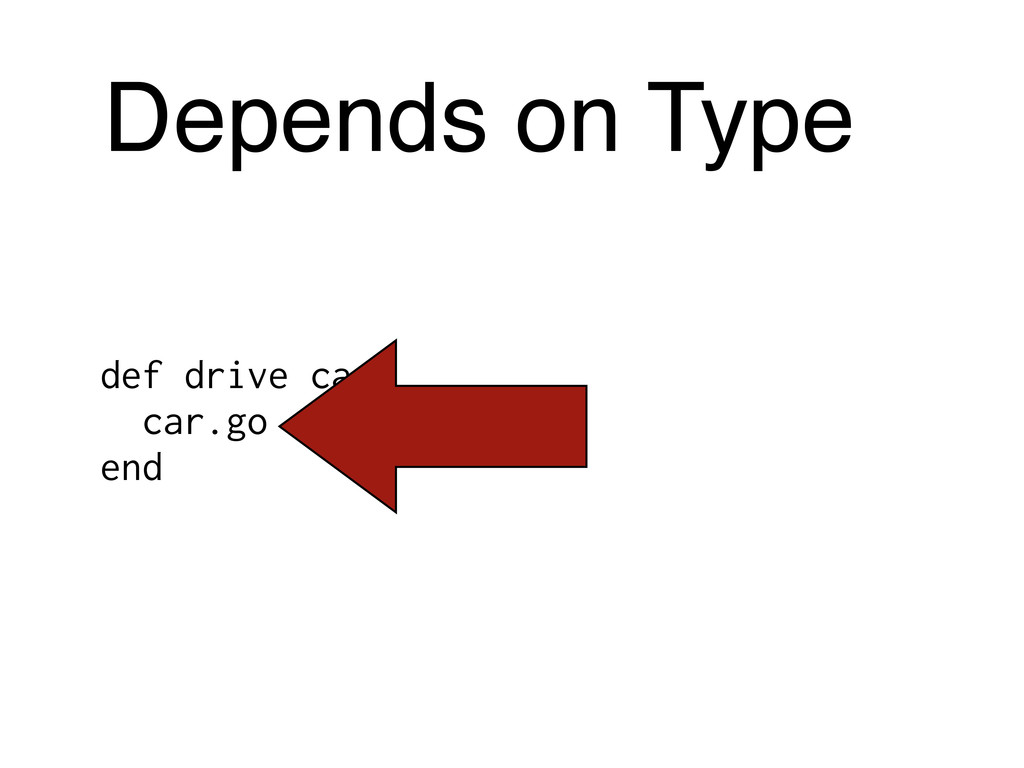 Depends on Type def drive car car.go end