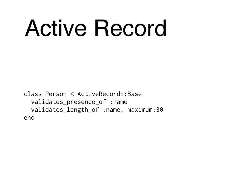 Active Record class Person < ActiveRecord::Base...