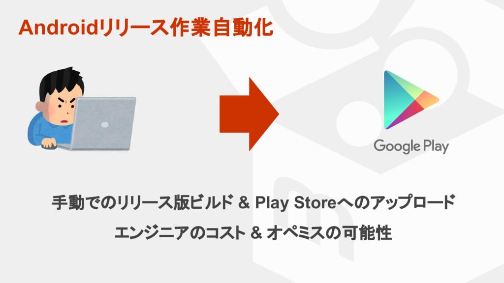 Androidリリース作業自動化 手動でのリリース版ビルド & Play Storeへのアップ...