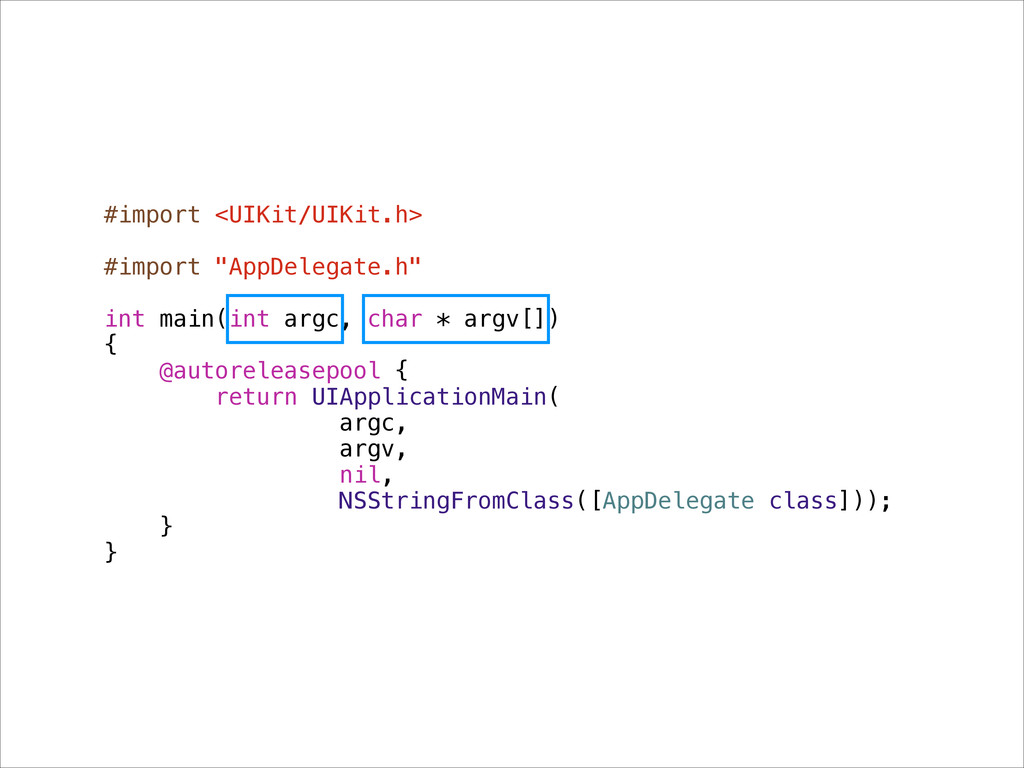 """#import <UIKit/UIKit.h> ! #import """"AppDelegate...."""