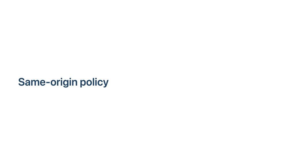 Same-origin policy