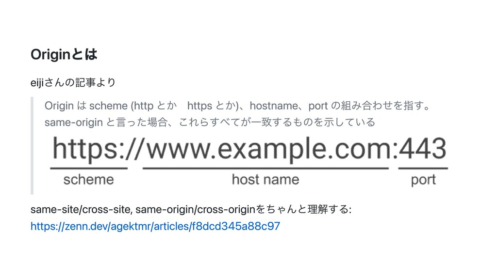 Originとは eijiさんの記事より Origin は scheme (http とか h...