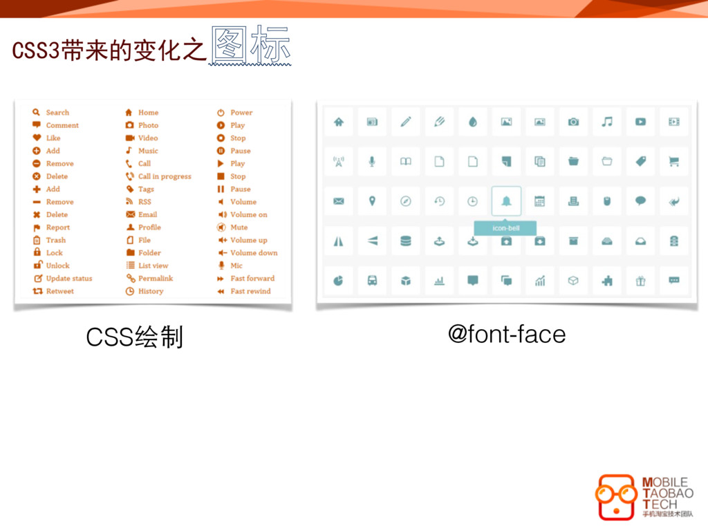 CSS3带来的变化之图标 CSS绘制 @font-face