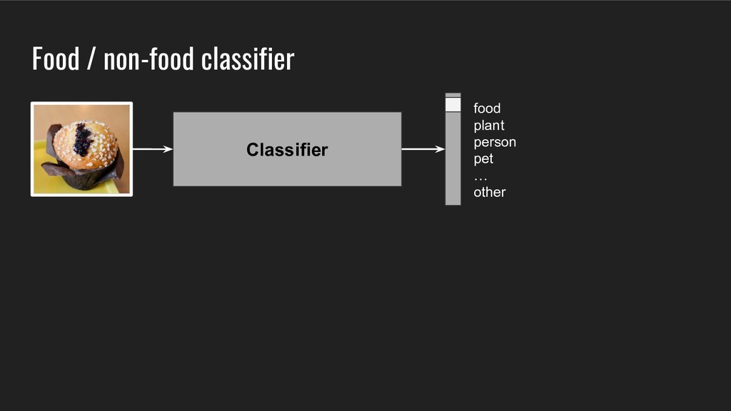 Classifier Food / non-food classifier food plan...