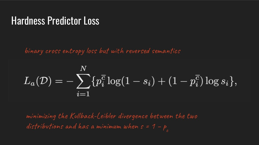 Hardness Predictor Loss bi y s e t y s u w r e ...