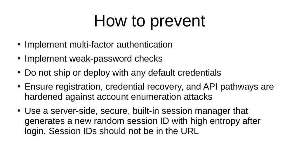 How to prevent ● Implement multi-factor authent...