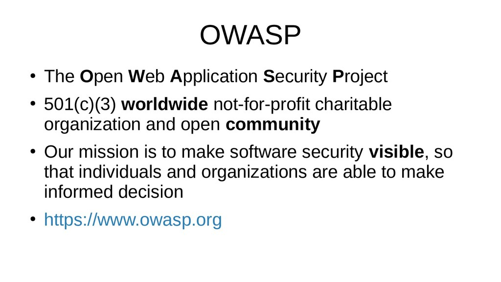 OWASP ● The Open Web Application Security Proje...