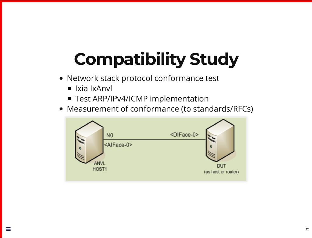 Compatibility Study Compatibility Study Network...