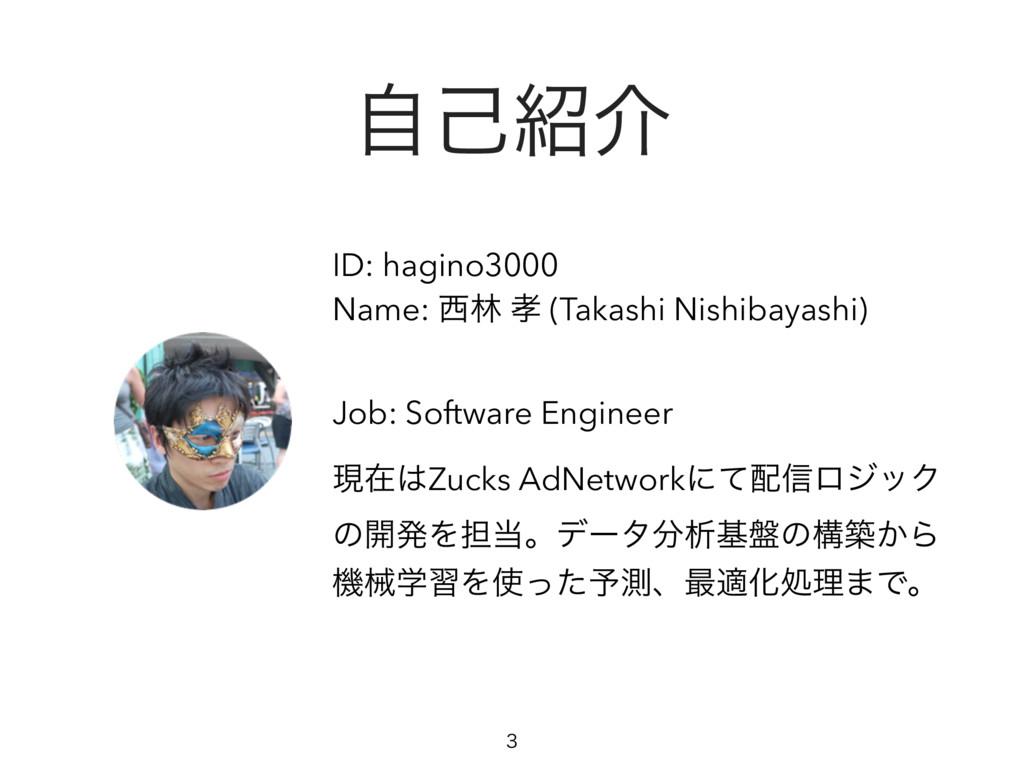 ࣗݾհ ID: hagino3000 Name: ྛ  (Takashi Nishiba...