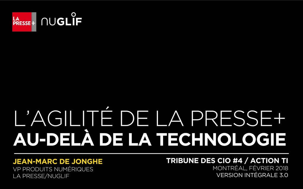 L'AGILITÉ DE LA PRESSE+ AU-DELÀ DE LA TECHNOLOG...