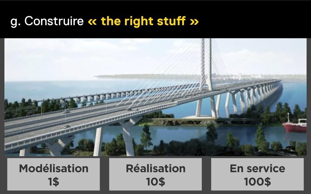 g. Construire « the right stuff » Modélisation ...