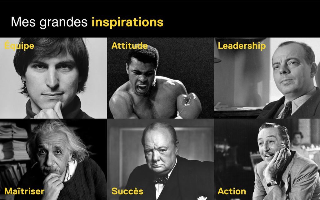 Mes grandes inspirations Attitude Équipe Leader...