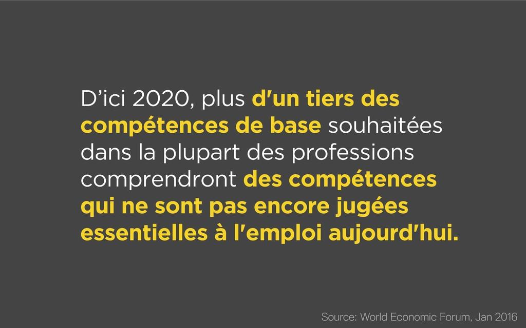 D'ici 2020, plus d'un tiers des compétences de ...
