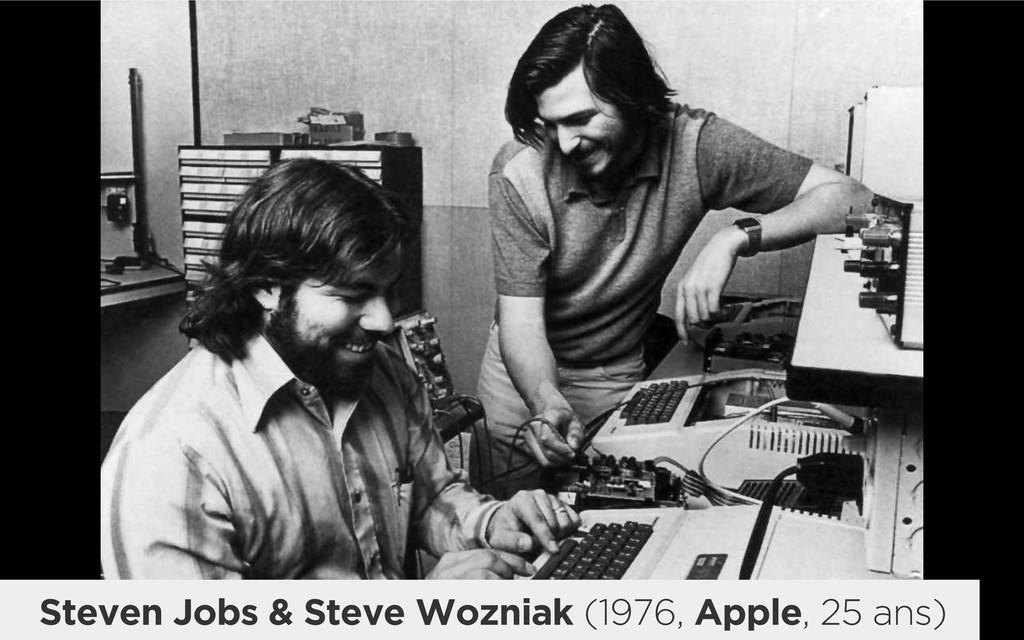 Steven Jobs & Steve Wozniak (1976, Apple, 25 an...