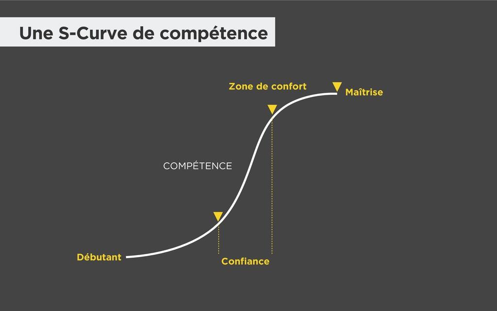 Une S-Curve de compétence Maîtrise Confiance CO...