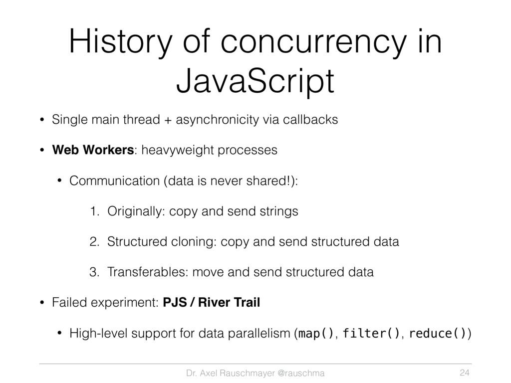 Dr. Axel Rauschmayer @rauschma History of concu...