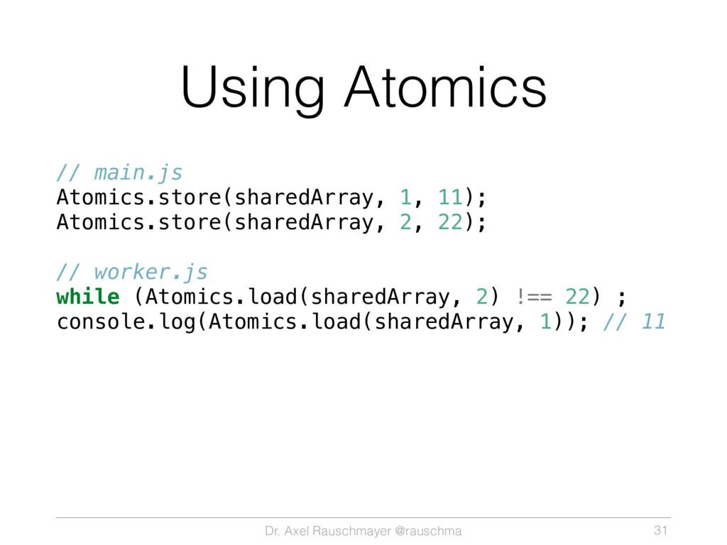 Dr. Axel Rauschmayer @rauschma Using Atomics //...