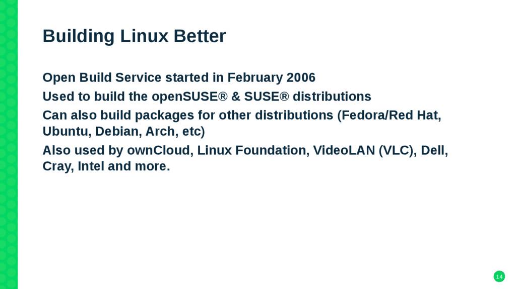 14 Building Linux Better Open Build Service sta...