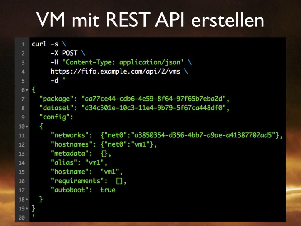 VM mit REST API erstellen
