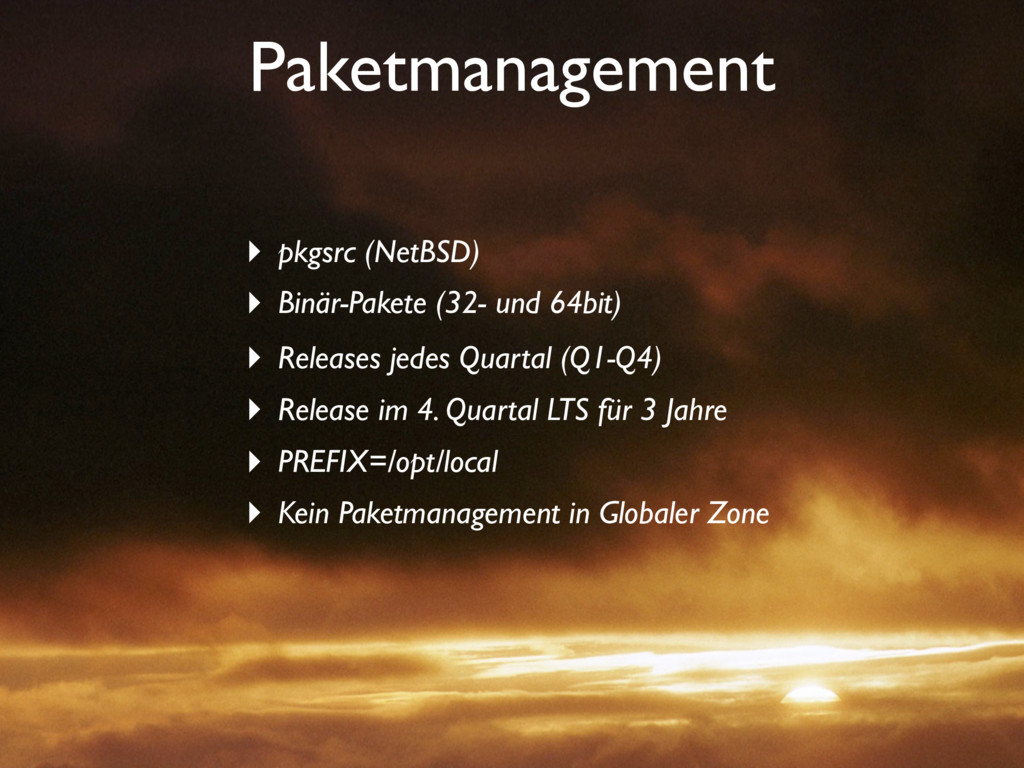 Paketmanagement ‣ pkgsrc (NetBSD) ‣ Binär-Paket...