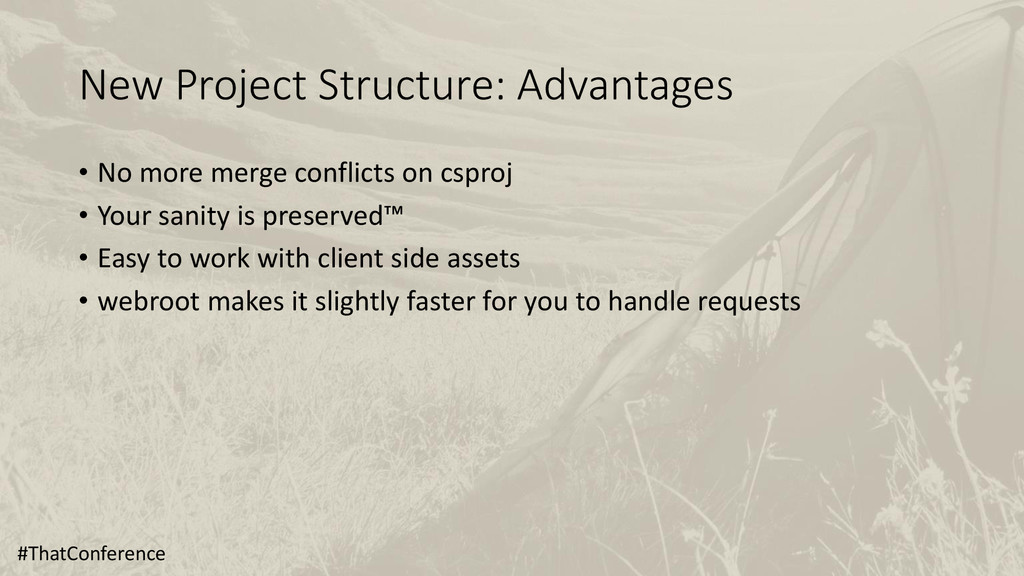 New Project Structure: Advantages • No more mer...