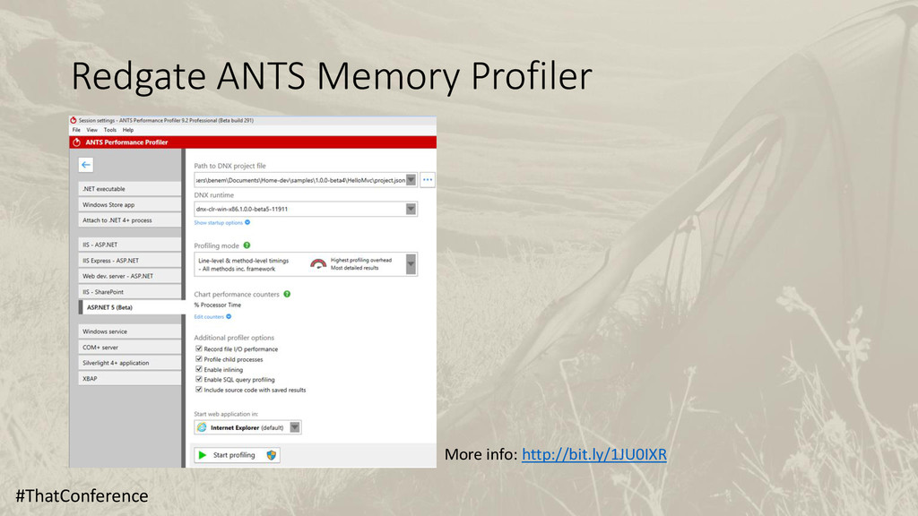 Redgate ANTS Memory Profiler #ThatConference Mo...