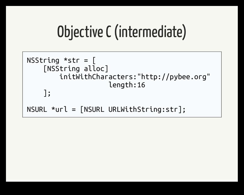 Objective C (intermediate) NSString *str = [ [N...